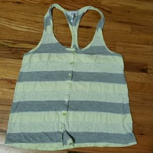 3 for $15 Green and gray striped top from Kiara